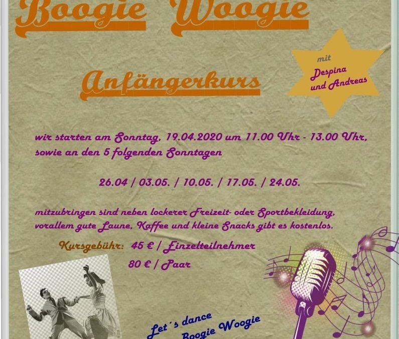 Anfängerkurs im Boogie Woogie am 19.4.2020